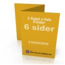 Billig digitaltryk af Z-falset folder hos Discountprint